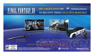 Final Fantasy XV bonus précommande 2