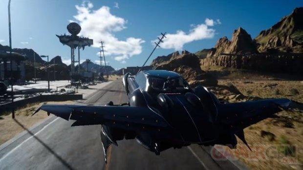 Final Fantasy XV voiture Regalia volante head