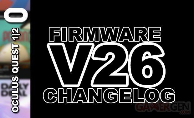Firmware V26 Changelog