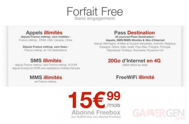 forfait free mobile freebox