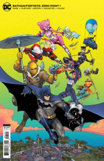 Fortnite Batman Zero Point comic cover back