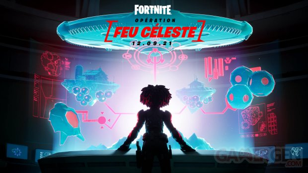 Fortnite Opération Feu Céleste key art Chapitre 2 Saison 7