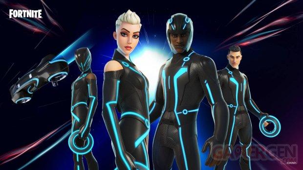 Fortnite Tron L Héritage skin DLC Lightcycle