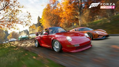 test forza horizon 4 le meilleur jeu de course du printemps de l 39 t de l 39 automne et de l. Black Bedroom Furniture Sets. Home Design Ideas