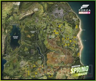 Forza Horizon 4 printemps carte