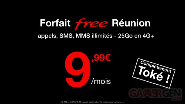 Free Mobile forfait Réunion prix