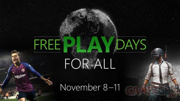 Free Play Days PUBG PES