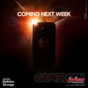 Galaxy S6 Edge Iron Man