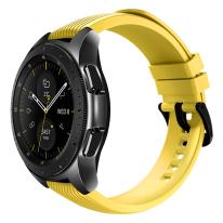 galaxy watch black 42mm yellow