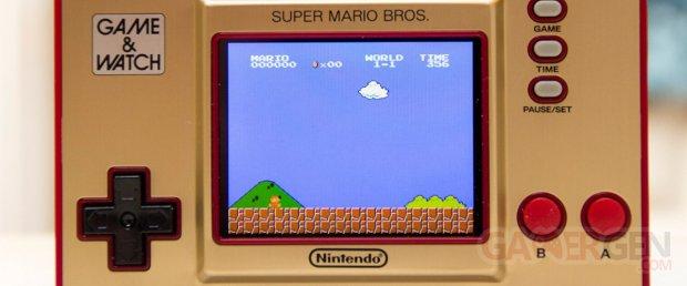 Game & and Watch Super Mario Bros 35 Nintendo Test Bannière