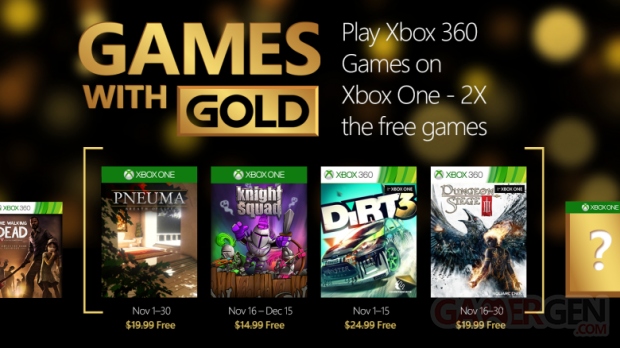 Game With Gold novembre