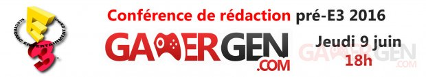GamerGen Live E3 2016 Bannière