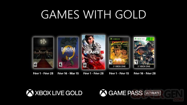 Games with Gold février 2021