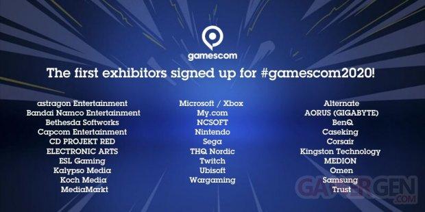 gamescom 2020 logo exhibitors