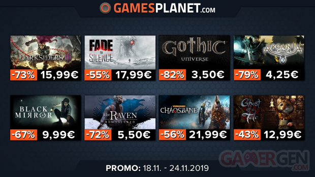 Gamesplanet promos 20 11 2019