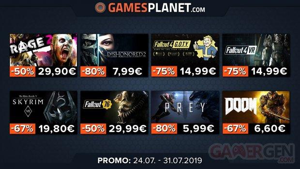 Gamesplanet soldes Bethesda 27 07 2019