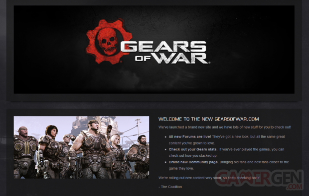 Gears of War   nouveau site
