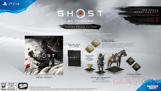 Ghost of Tsushima édition numérique Deluxe 05 03 2020