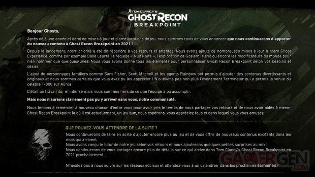 Ghost Recon Breakpoint nouveautés 2021