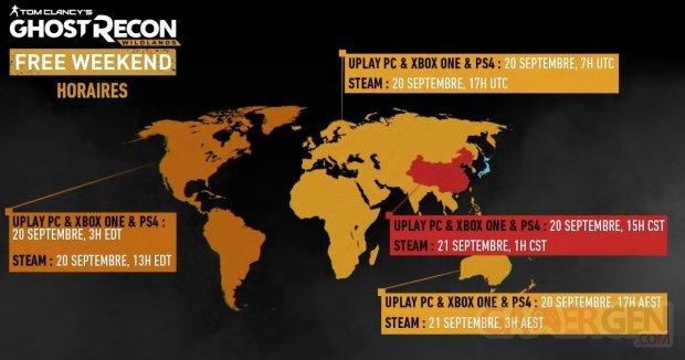 Ghost Recon Wildlands week end gratuit 18 09 2018