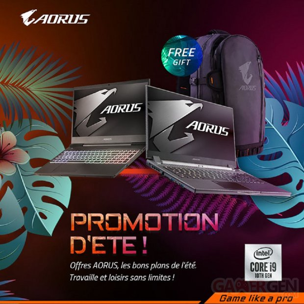 Gigabyte Aorus Promotion été 2020
