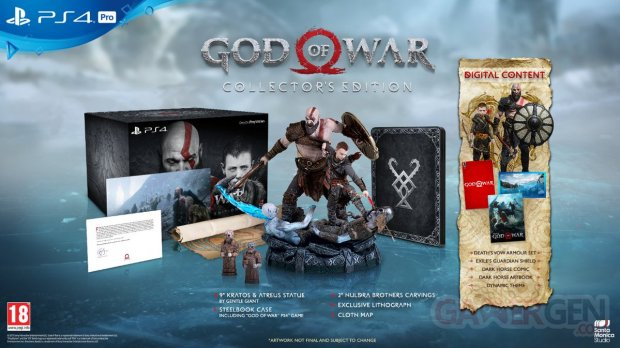 God of War édition collector 23 01 2018