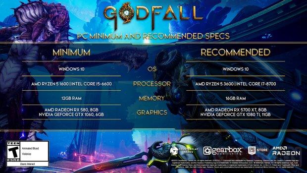 Godfall configurations PC