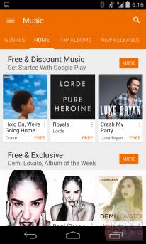 google play store 5 0 screenshot musique