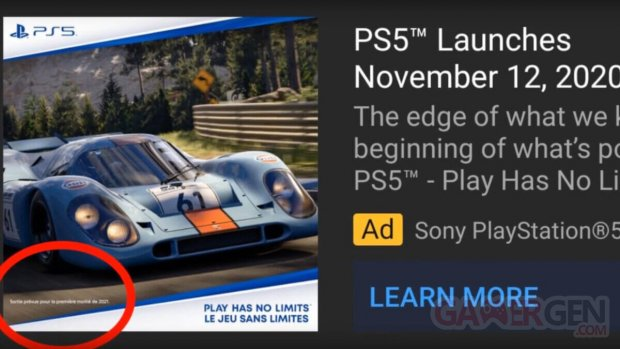 Gran Turismo 7 publicité période sortie