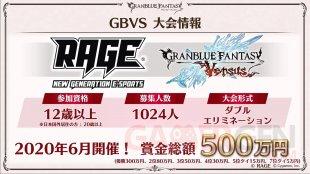 Granblue Fantasy Versus tournoi RAGE 08 03 2020