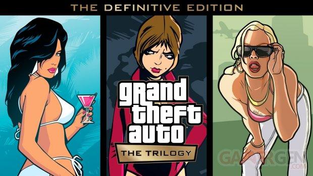 Grand Theft Auto The Trilogy The Definitive Edition key art wallpaper fond écran