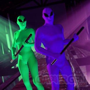 GTA Online Green Purple Martian Bodysuit
