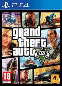 GTA V PS4 jaquette cover