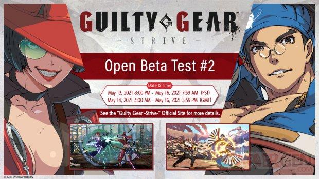 Guilty Gear Strive bêta ouverte 28 04 2021