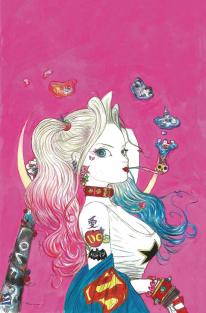 Harley Quinn Yoshitaka Amano artwork comics variant cover