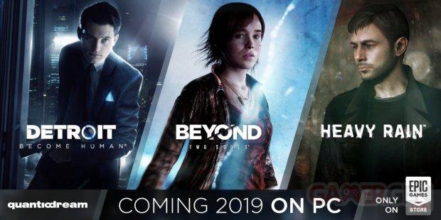 Heavy Rain Beyond Two Souls Detroit Become Human PC Epic Games Store 20 03 2019