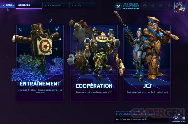 heroes of the storm alpha francais