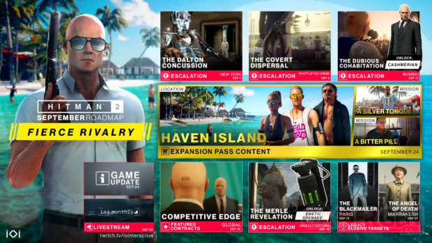 Hitman 2 Haven Island september roadmap