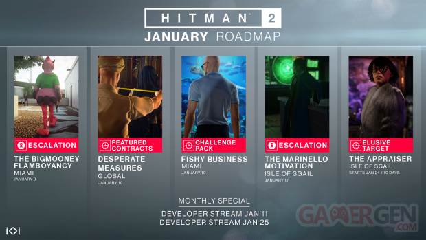 hitman 2 janvier roadmap