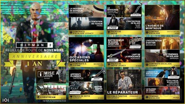 Hitman 2 planning novembre 06 11 2019