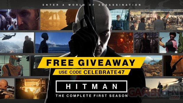 Hitman free giveaway head
