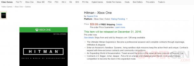 Hitman NEOGaf Amazon