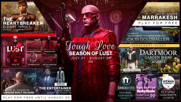 Hitman Season of Lust roadmap