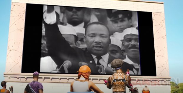Hommage à Martin Luther King TIME Studios présente La Marche dans le temps dans Fortnite