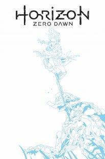 Horizon Zero Dawn comics cover F Blue Line Sketch