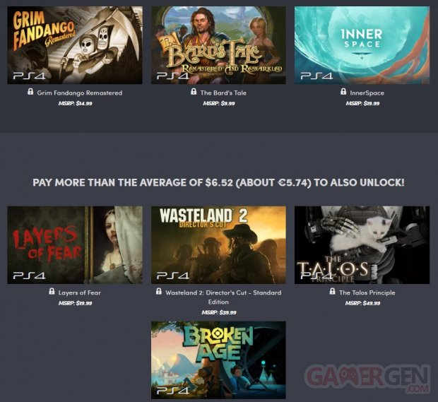 Humble Indie Bundle PS4