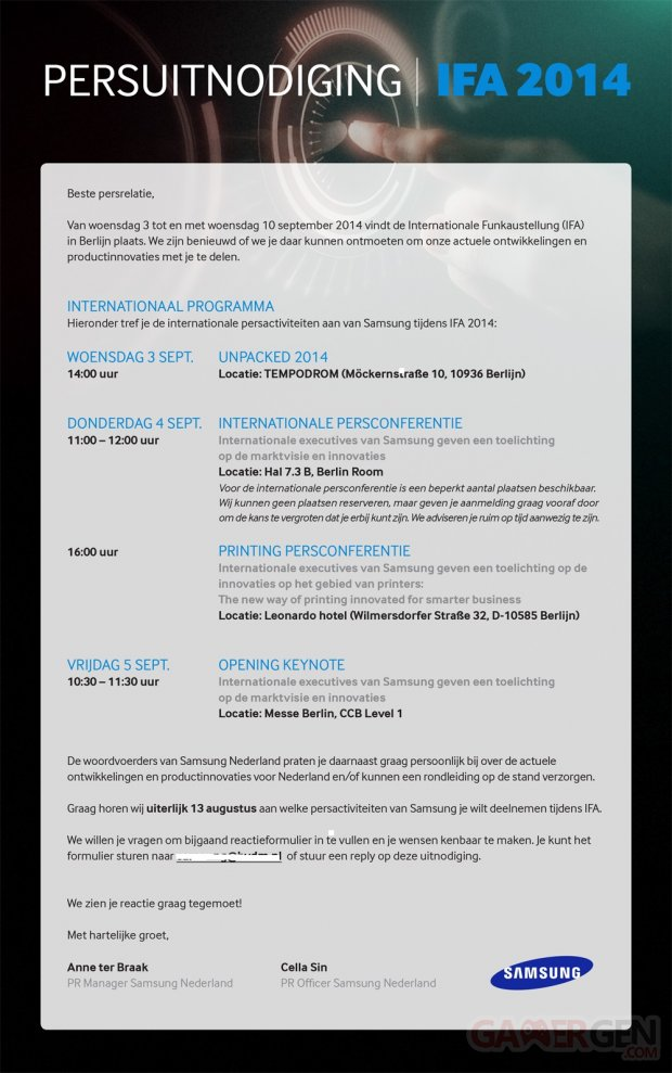 ifa 2014 sammobile1 invitation samsung unpacked galaxy note 4