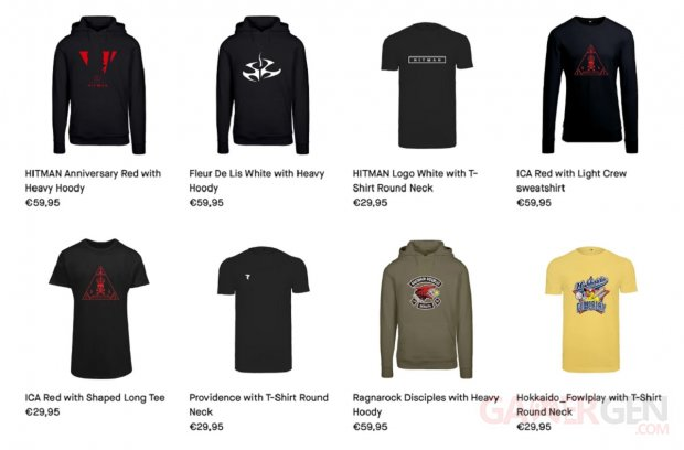 IO Interactive Boutique Europe Hitman Vêtements