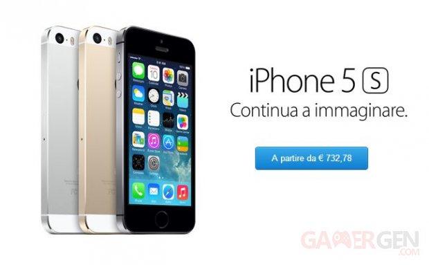 iphone 5s italie
