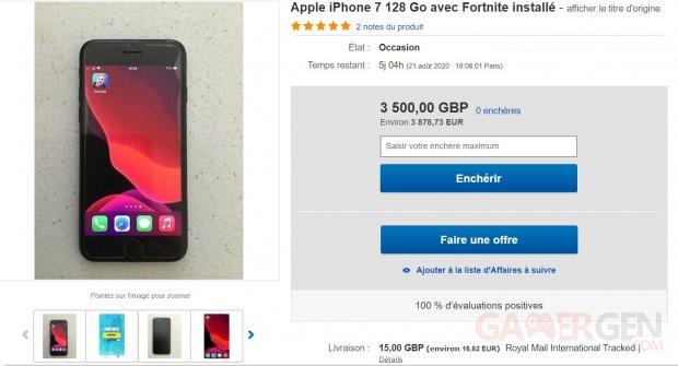 iPhone eBay Fortnite